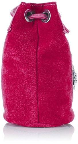 Hombro Edelherz Bolso Umhaengetasche Mujer Edelweiß de Cuero Rosa Rosa de UAHIP