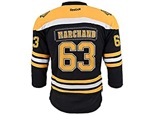 Brad Marchand Reebok Boston Bruins Youth Team Color Replica Jersey (Black) L/XL