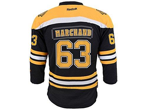 (Brad Marchand Reebok Boston Bruins Youth Team Color Replica Jersey (Black) L/XL)