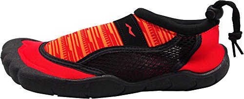 Quick Shoes Aqua Swim Pool NORTY Sports for Drying Ladies Techno Surf Boating Womens Beach Black Water Socks Red 5IEqPwqROr