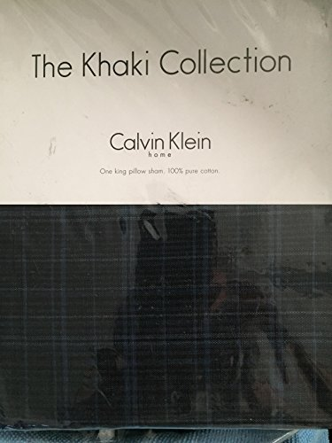 The Khaki Collection Calvin Klein INDIGO PLAID King Sham