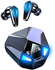 iOS Android-öronsnäckor Gaming Bluetooth Hörlurar E-sport Trådlösa In-ear Hörlurar 9D Stereo Gaming Headset med mikrofon