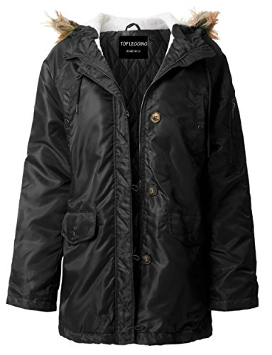 ViiViiKay Womens Classy Warm Fur Lined or Quilted Padded Parka Jackets 71_ Black 3XL Ladies Quilted Parka Jacket
