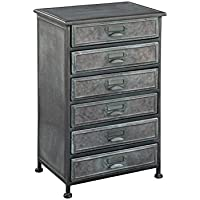 Hekman Furniture 27696 6 Drawer Metal Chest 6