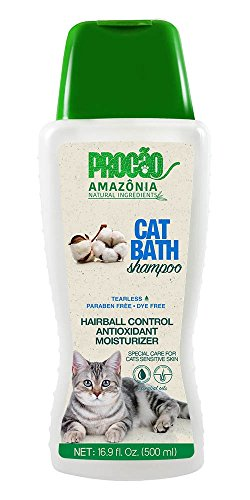PROCÃO Amazonia All Natural Pure Aloe Vera Shampoo for Cats, soothes and Heals While Gently Cleansing, 17oz