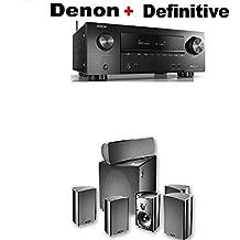 Denon AVR-X2500H 7.2 CH 95W 4K Ultra HD WiFi/Bluetooth AV Receiver + Definitive Technology ProCinema 600 5.1 Home Theater Speaker System Bundle