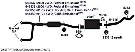 Catalytic Converter-4WD AP Exhaust 645836