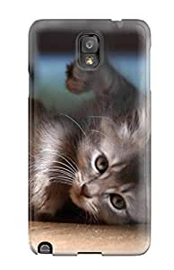 Hot CKfdSNK5333eSXpm Case Cover Protector For Galaxy Note 3- Baby Cat Wallpaper