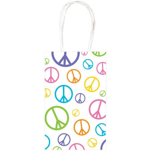 Peace Sign Print Party Bag (White) Party Accessory ()