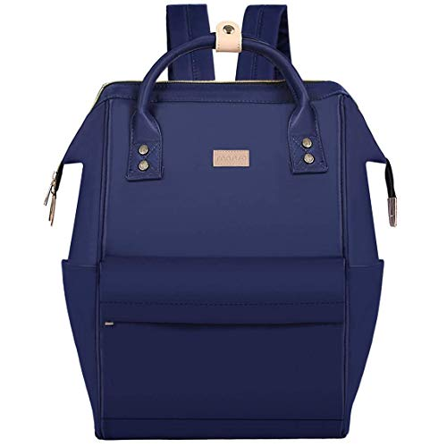 MOSISO Laptop Backpack 15 inch up to 14.96 x 9.69 inches , Water Repellent Polyester Business Travel College School Bookbag Daypack for Women Men Boy Girl, Compatible with MacBook Notebook, Navy Blue