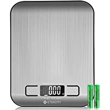 Etekcity Food Digital Kitchen Scale Weight Grams and Oz for Baking and Cooking, 0.67.35.7 in, Stainless Steel(Upgraded)