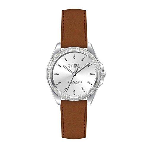 COACH Women's Tristen Silver/Brown Watch