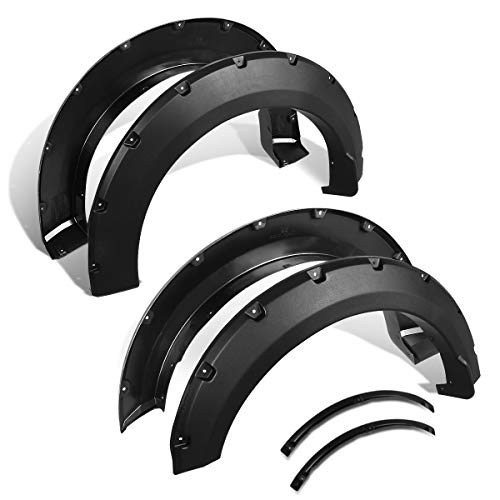 4Pcs Pocket-Riveted Style Wheel Fender Flare Cover Kit for 15-18 Ford F150