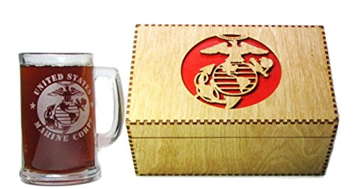 with Handle Keepsake Gift Box (Marine Keepsake Box)