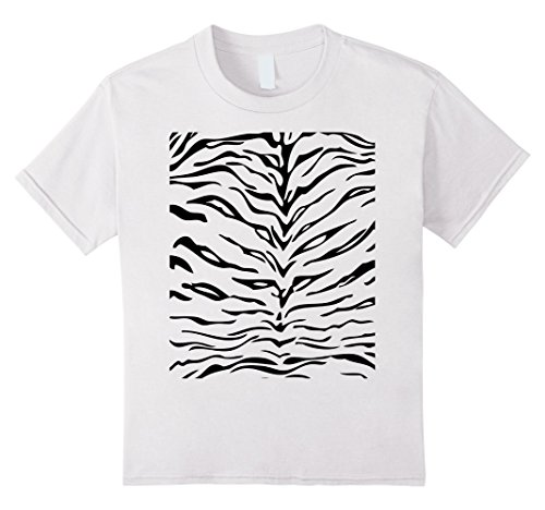 Kids Tiger Print Shirt, Simple Halloween Costume Idea Gift 10 White (Halloween Costume Simple Ideas)