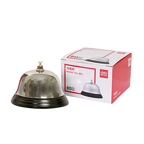 deli 80 mm Calling Bell - Pack of 2 (Silver)