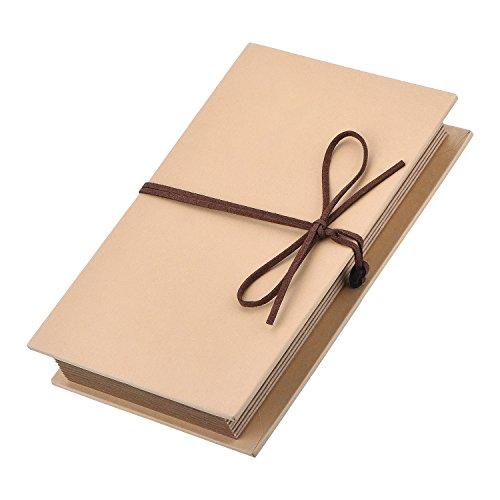 Mudder Hardcover Photo Album Kraft Paper Folding Photo Album Holds 4 x 6 Inch Photos for DIY Scrapbooking Wedding Anniversary Sketchbook