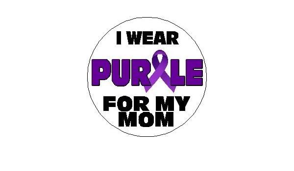 fd44de05359 Amazon.com: I Wear Purple For My Mom 1.25