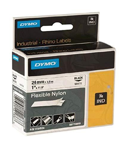 1734524 - Wire Marker, Heat Shrinkable Sleeve, Dymo Rhino, Nylon (Polyamide), White, Black, (Pack of 2) -1734524