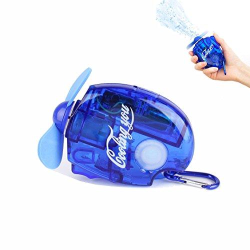kunli Portable air conditioning fan Water jet fan Mini handheld air conditioning fan Pocket Spray Mist Water Bottle Fan with Carabiner