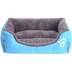 S-Lifeeling Lovely Spring Warm Dog Cat Couch Candy Color Square Pet Bed Comfort Soft Pet Cushion