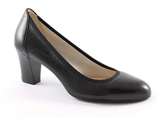 Goma Negros Melluso Zapatos Suela Elástica Nero Decollet De D064 Mujer 8U6wq4