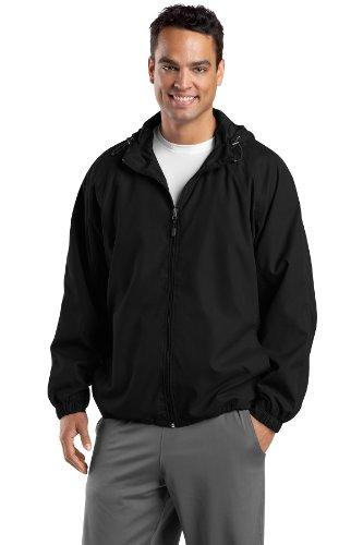 Sport Negro hombre Tek raglán capucha con chaqueta wTnPHBgqT