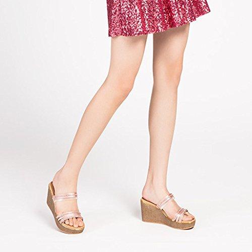 A Adornos Pendiente Elegante Variedad Zapatillas Diamantes Mujer Bizcocho De Mujer Una Con Verano Dyfymx 46UO6