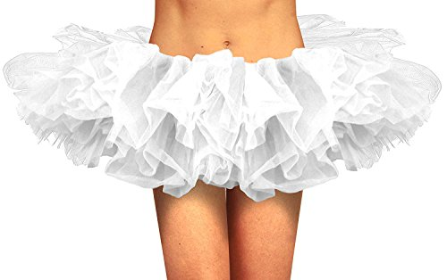 Tutus For Women - Adult White Tutu - Classic Tulle Tutu Skirt - Rave Party Tutu -