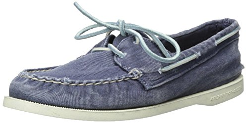 Sperry Top-Sider Women's Authentic Original Washed Boat Shoe, Navy, 8 M US