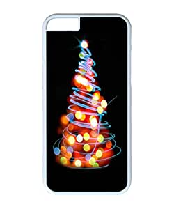VUTTOO Iphone 6 Case, Glowing Lights Christmas Tree Illustration Hard Plastic Case for Apple iPhone 6 4.7 Inch PC White