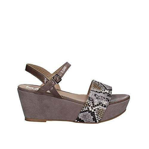 Sandalias Mujeres 5671 Altos Gris Mally Hq85a