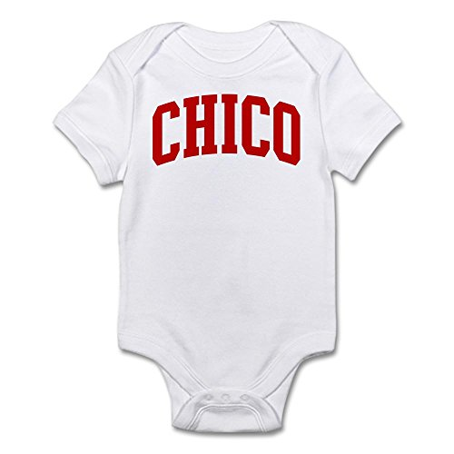 Cafepress   Chico  Red    Cute Infant Bodysuit Baby Romper