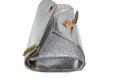 Borsetta donna Michelle moon l.similpelle e glitter zl436 argento