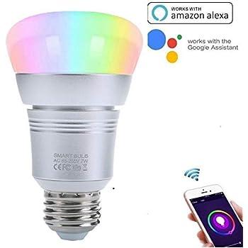 trylight 7w smart wifi light bulbs e26 base led bulbs compatible with alexa and google home. Black Bedroom Furniture Sets. Home Design Ideas