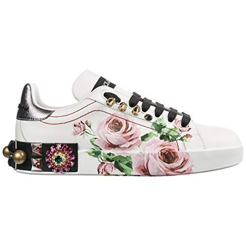 Dolce&Gabbana Women Portofino Sneakers Bianco 5 US