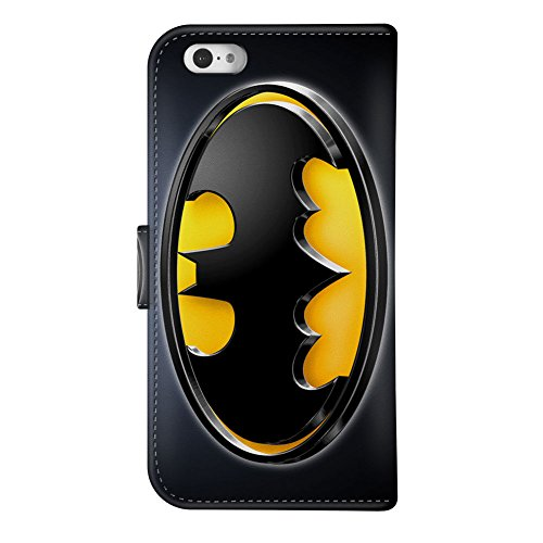 iPhone 6S PLUS Plus Wallet Case[5.5 inch], Onelee - Batman Premium PU Leather Case Wallet Flip Stand Case Cover for iPhone 6S PLUS Plus with Card Slots at Gotham City Store