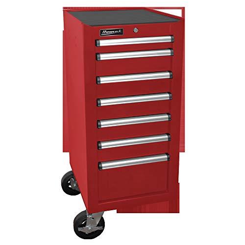 [해외]Homak Mfg. Co RD08018070 H2Pro Series 7 Drawer Side Cabinet Red 18 / Homak Mfg. Co, RD08018070 H2Pro Series 7 Drawer Side Cabinet, Red, 18
