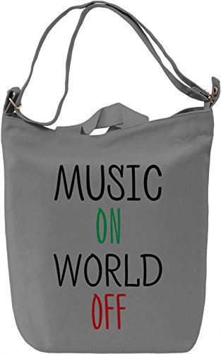 Music on Borsa Giornaliera Canvas Canvas Day Bag| 100% Premium Cotton Canvas| DTG Printing|