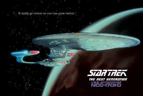 (Star Trek - TV Show Poster USS Enterprise 1701-D (Size: 40'' x 27''))