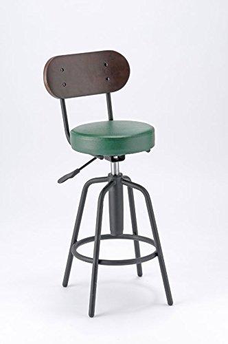 バーチェア TAM-3 (モスグリーン) カウンターチェア バーチェア 背もたれ付 バースツール 飲食店 台所椅子 高めのイス B074W5LN71 モスグリーン モスグリーン