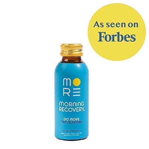 Morning Recovery Drink 'V2' (New!) Liver Detox and Hydration Supplement with Dihydromyricetin (DHM), Electrolytes, Milk Thistle, B-Vitamins: B6 & B12, 3.4 fl oz (Vegan, Caffeine-Free, ()