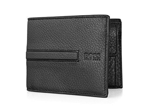 Hugo Boss Men's Gorki Trifold Leather Wallet, OS, Black