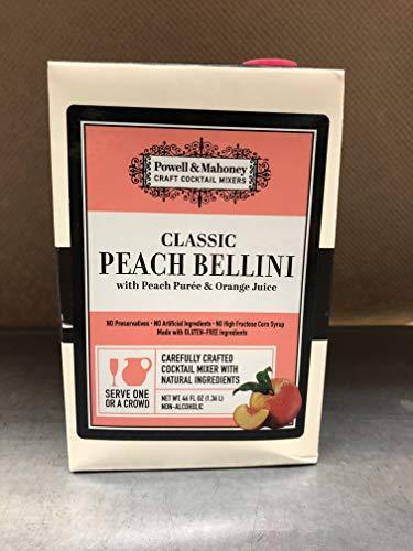 (Powell & Mahoney Classic Peach Bellini Cocktail Mix, 46oz (6 Units per Case) )