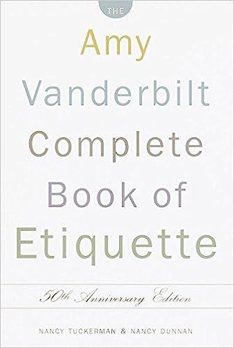 Amy vanderbilts new complete book of etiquette