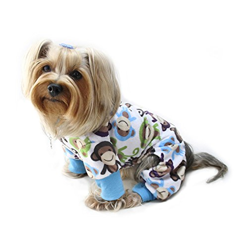 Dog/Puppy Minky Monkey Plush Pajamas/Bodysuit/Loungewear/PJ/Coverall/Jumper/Romper for Small Breeds (Small Dog Jumper)