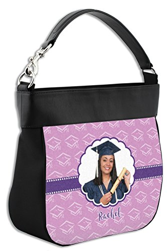 w Trim Back Leather Purse Personalized Hobo Front amp; Graduation Genuine qEwRSn6WF