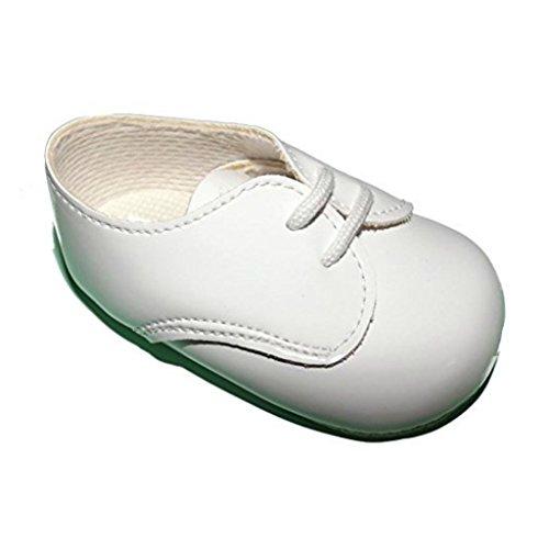 Baby- und Kleinkindjungen Kinderwagen Schuhe von der Geburt bis 18 Monate. Verschiedene Farben Weiß