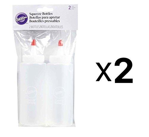 Wilton NOM331593 Mini Squeeze Bottles, 2 Per Pack, 6 Ounces