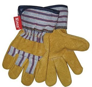 KINCO 1917-C Grain Pigskin Leather Glove with Safety Cuff, Ages 3-6, Child, Golden